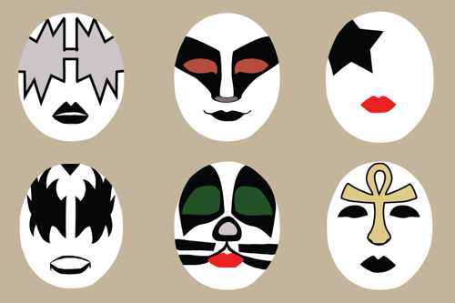 Kiss masks