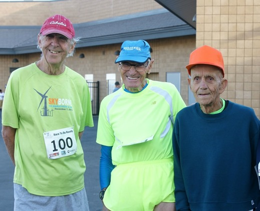 Masters runners before a race