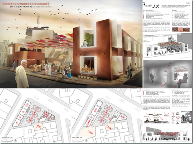 CASABLANCA_international architecture competition_AC-CA_Plaza de un Mercado Sustentable_Sustainable Market Square _Place d'un Marché Ecologique_Mencion de Honor_5