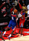 lebron james nba 130217 all star houston 69 game 2013 NBA All Star: LeBron Sets 3 pointer Mark, but West Wins