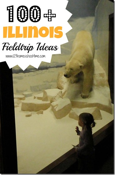 Homeschooling in Illinois: Looking for a HUGE list of homeschooling fieldtrip opportunities in Illinois? I've got over 100 fantastic ideas for your next Illinois based fieldtrip.