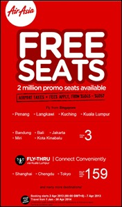 AirAsia FREE SEATS Air Ticket Promotion Singapore 2014