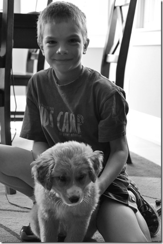 Ben and Lucy black and white