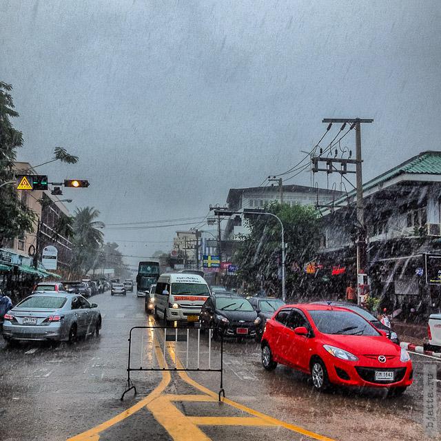 17. Сезон дождей. Таиланд 2555. Thailand