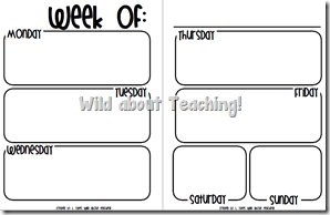 Wild about teaching planning for next year for Year at a glance template for teachers