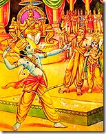 Rama lifting Shiva's bow