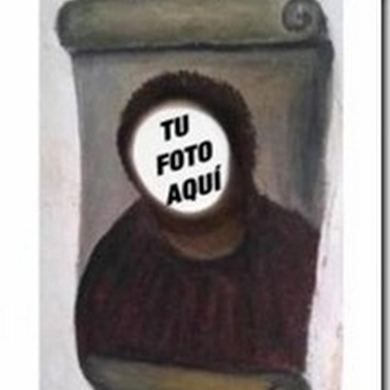 Generador: tu cara en el Ecce homo Fotomontaje Cristo restaurado
