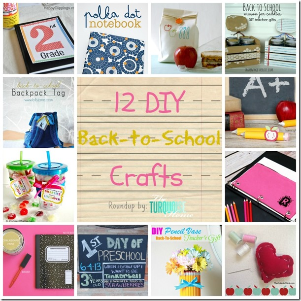 DIY-Back-To-School-Crafts-Roundup-TheTurquoiseHome.com-Collage-1024x1024