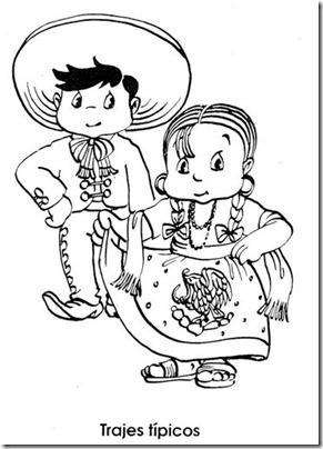 mexico (7). colorear dibujos infantiles con trajes típicos
