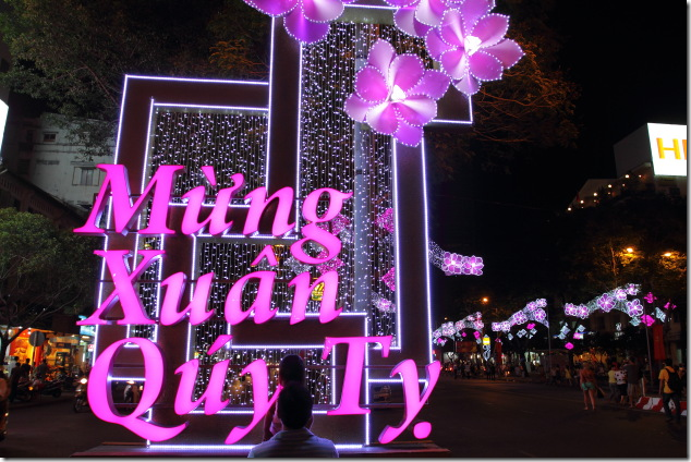 Ho Chi Minh is all done up for the Tet New Year