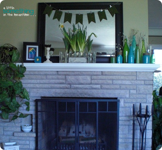 Spring Mantel Full View