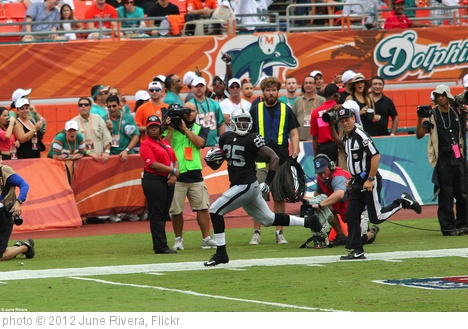 'Oakland Raiders v Miami Dolphins' photo (c) 2012, June Rivera - license: http://creativecommons.org/licenses/by-sa/2.0/