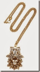 Bijoux Heart Gold Plated and Crystal Necklace