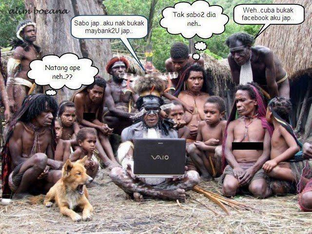 Orang Asli Main Internet