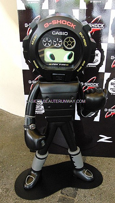CASIO G-FACTORY JCUBE G-MAN STATUE BY SHINO NAKANO CASIO G-shock 6900 model   BABY G SHOPPING MALL  trendy hip sporty