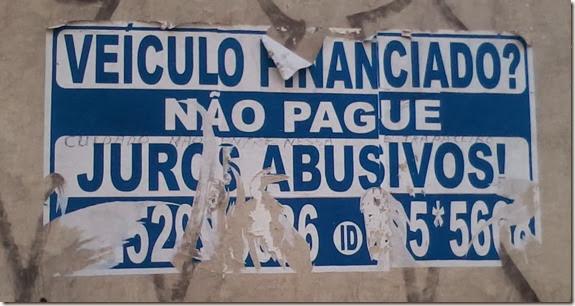 AA - Contrapropaganda - Cartaz - Juros abusivos