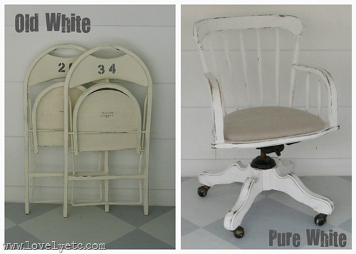 old white vs. pure white