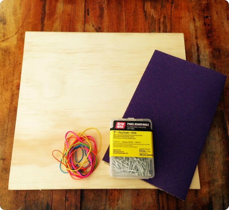 diy rubber band board supplies