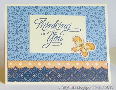 Pemberley, My Stickease, card tutorial, Thinking of you