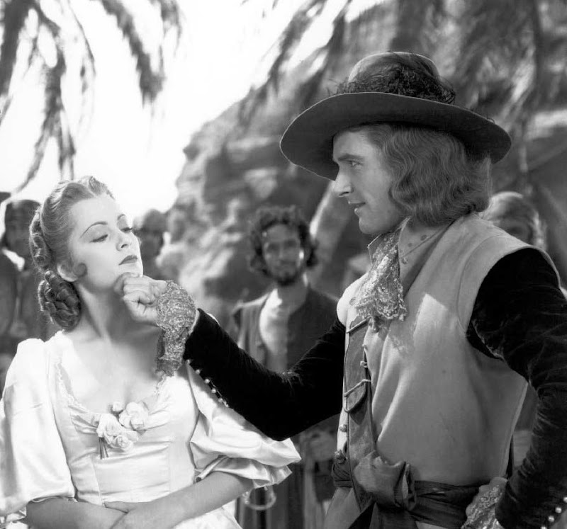 errol flynn and olivia de havilland in captain blood