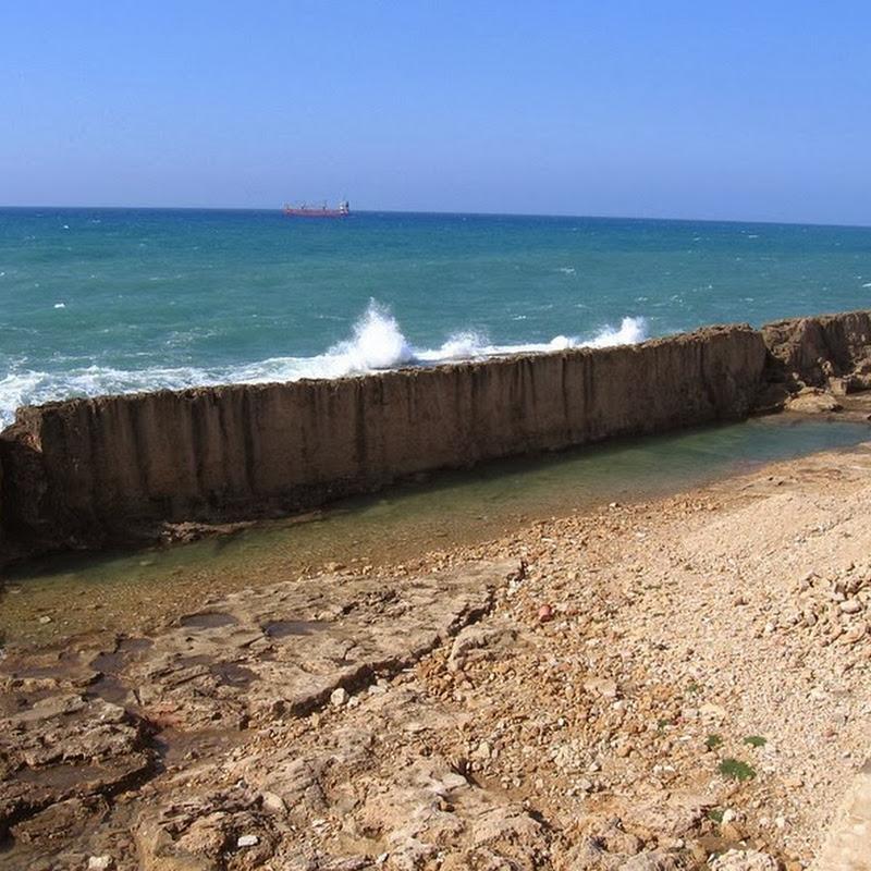 The Ancient Sea Wall at Batroun, Lebanon