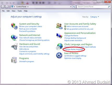 Control Panel Windows 7