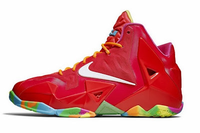 nike lebron 11 gs fruity pebbles 4 06 Kids Nike LeBron XI GS Laser Crimson Collection Available Now