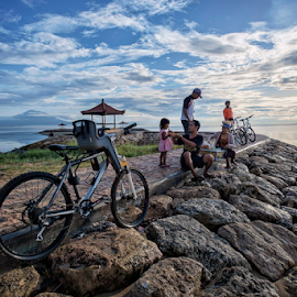 Parked by Ferdinand Ludo - Transportation Bicycles ( along sanul beach, bali, indonesia, Bicycle, Sport, Transportation, Cycle, Bike, ResourceMagazine, Outdoors, Exercise, Two Wheels,  )