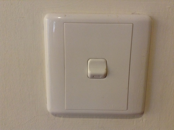 This is what a light switch looks like - living in Malaysia