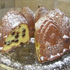 Chocolate Chip Sour Cream Pound Cake