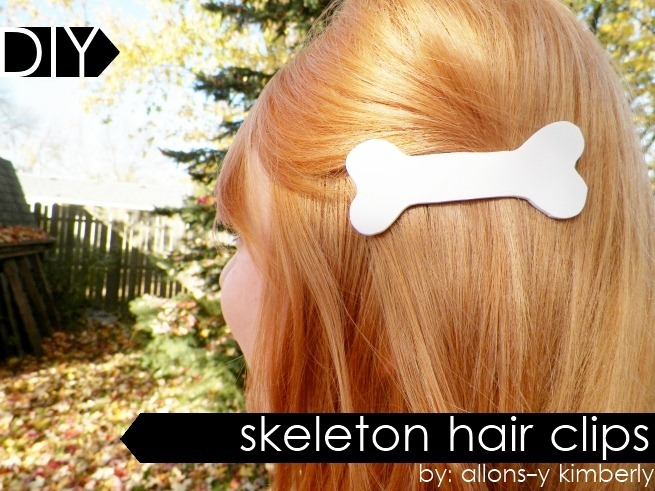 Skeleton Hair Clips } allonsykimberly.com