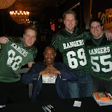 The Ranger boys with Police Academy star and 'man of 1000 voices' Michael Winslow
