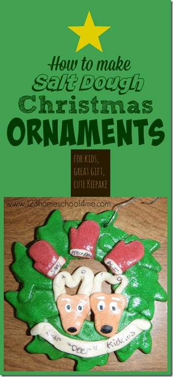 How to make Salt Dough Ornaments - a classic christmas craft for kids, a great personalized gift, and a wonderful keepsake for mom to make and save big money!