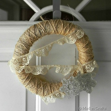 rustic winter wreath square