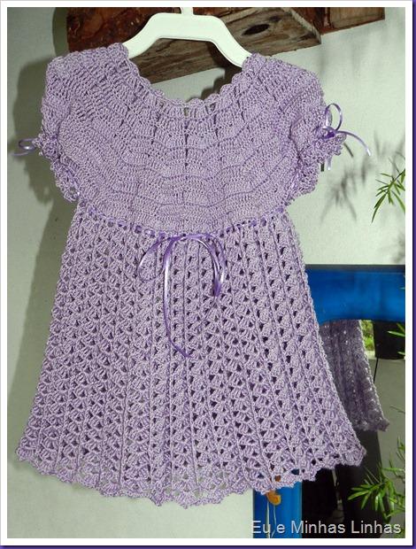 Vestido em Crochê para Meninas 1