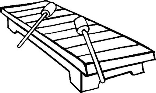 Xylophone Coloring Page Letter X Ray