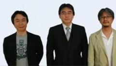Shigeru Miyamoto, Satoru Iwata e Eiji Aonuma