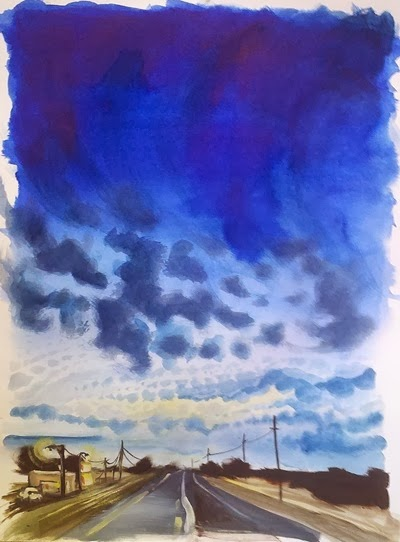 Blue Highway Anji Marth WatercolorandPencil