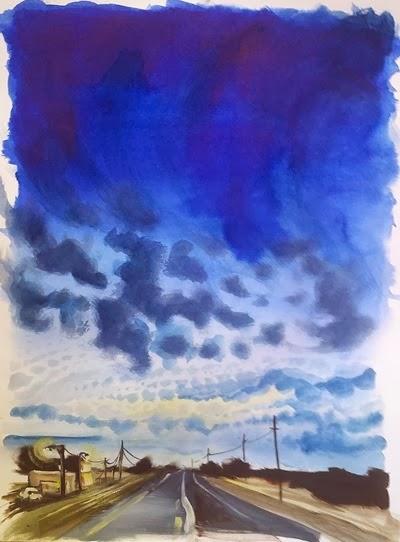 Blue Highway Anji Marth WatercolorandPencil