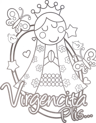Free Coloring Pages Of La Virgencita Plis Imagenes De La Virgen De Guadalupe Para Colorear