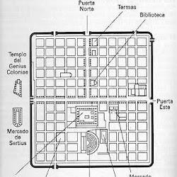 52.- Plano de la ciudad de Timgad