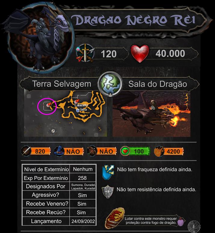 Dragão Negro Rei Descrição Monstro