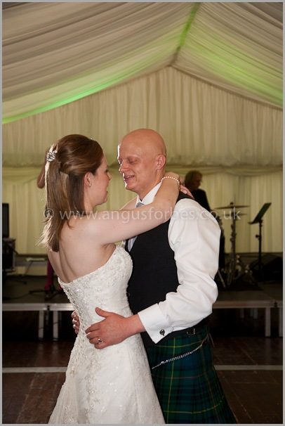 the first dance at a scottish wedding