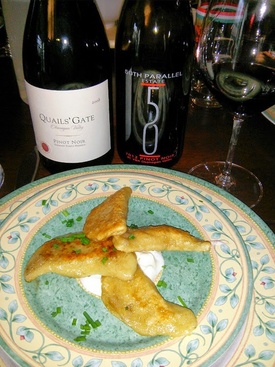 Buttery Perogies and Pinot Noir Partners