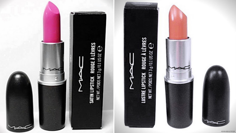 MAC Satin Lipstick in Pink Nouveau and MAC Lustre Lipstick in Freckletone