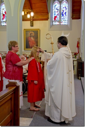 (Confirmation is one of the seven sacraments through which Catholics pass in ...