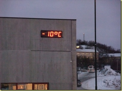 minus 10 is cold