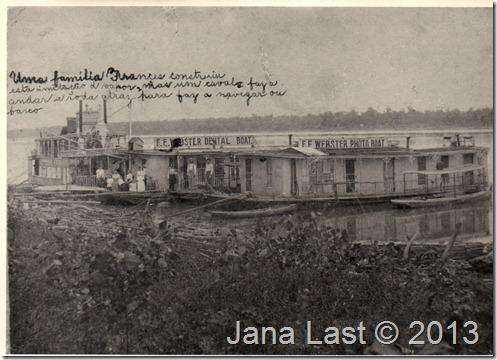 Webster Dental & Photo Boats 1896 to 1902 at Lake Charles Louisiana