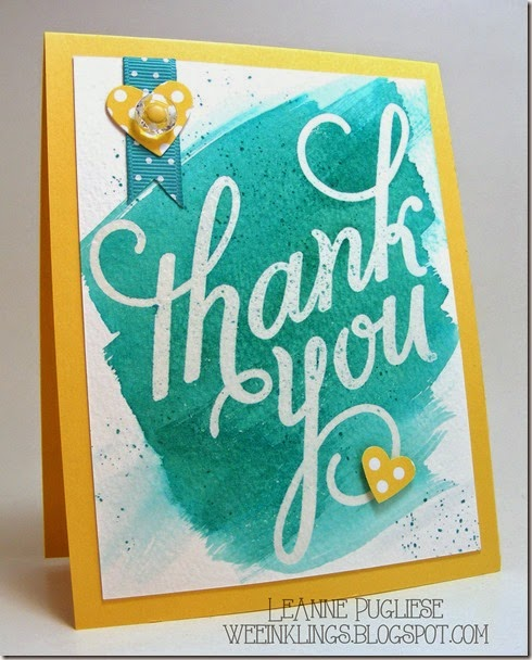 LeAnne Pugliese WeeInklings Another Thank You Watercolor Stampin UP