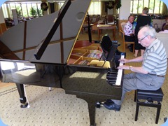 Former Club President, George Watt, entertained us on grand piano.